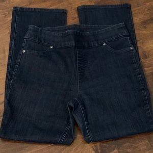 Chico's pull-on bootcut jeans
